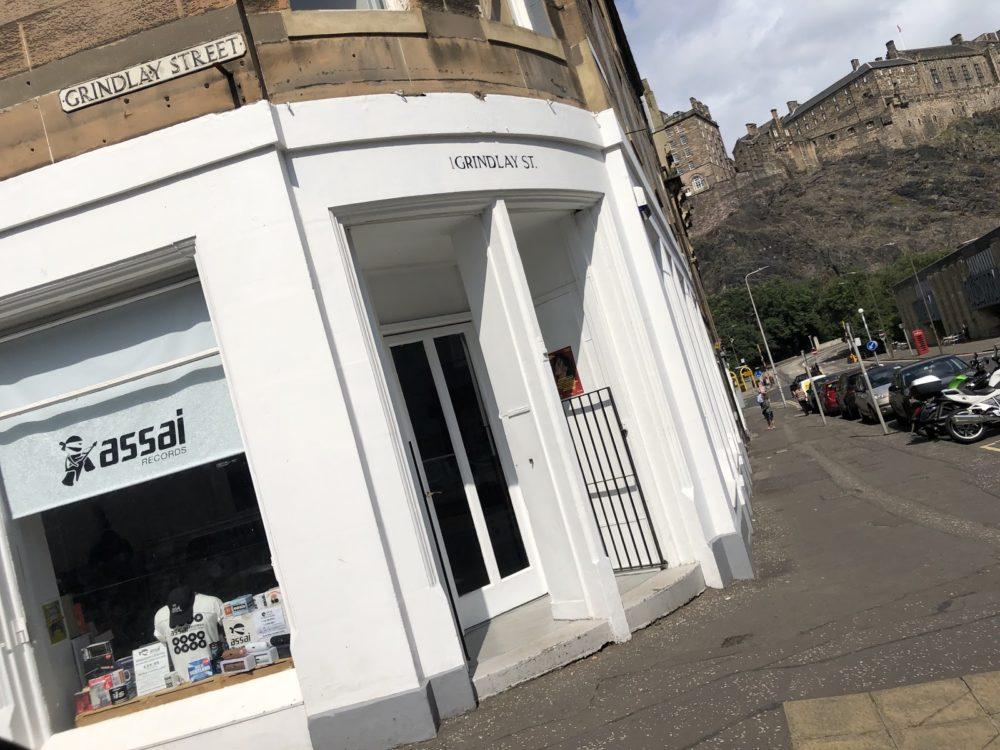 Front door of Assai record shop in Endinburgh, Scotland