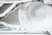 Unique handmade porcelain dinnerware: Foglia - Dishes Only