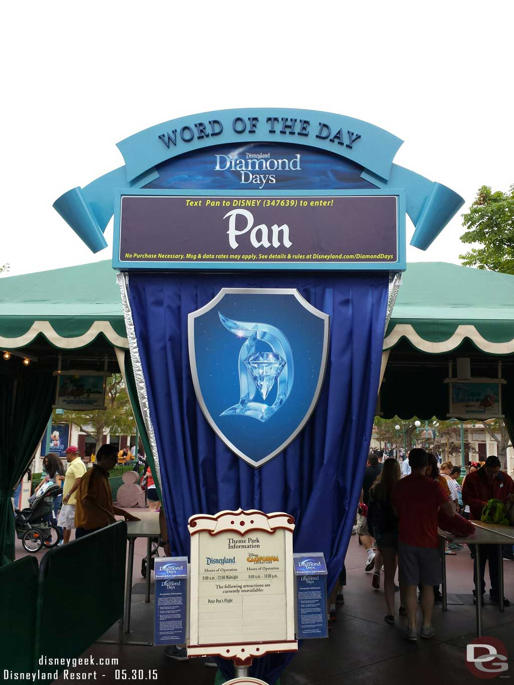 Disneyland diamond sweepstakes word of the day for kids