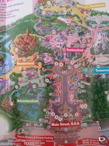 2018 California Disneyland Park Map