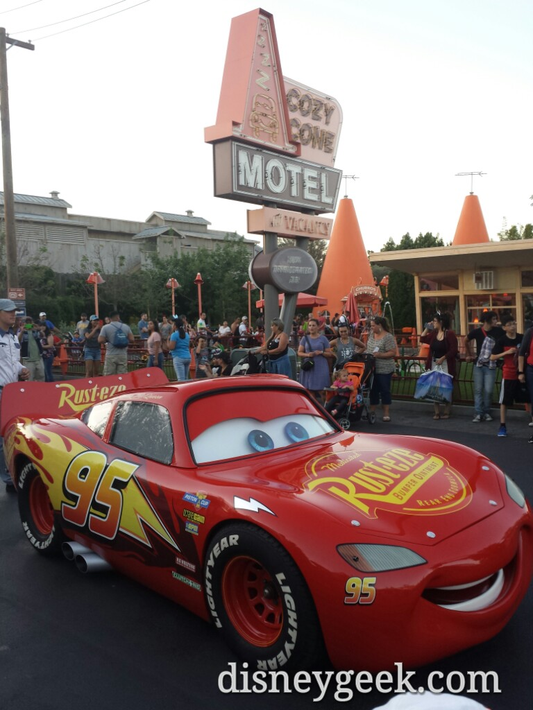 Lightning McQueen Passing The Cozy Cone On Route 66