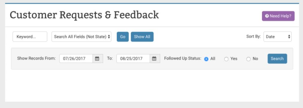 Customer Requests Feedback