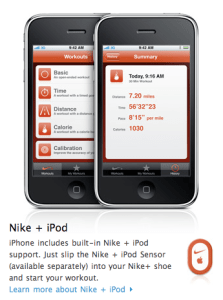 Kit Nike + iPod - iPhone 3GS