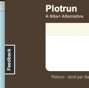 Bouton Feedback - Plotrun