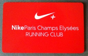 Nike Running Club - Carte membre