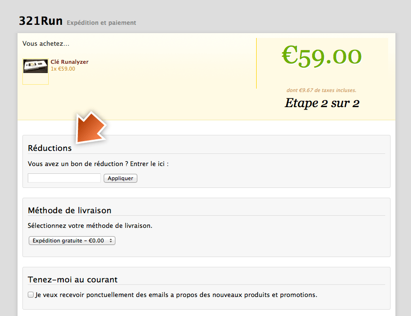 5 de r duction sur 321run store le blog de djailla - Code reduction trigano store ...