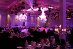 LED lights wedding venue