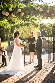 Outdoor wedding ceremony Toronto