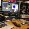 3Dジュエリーデザイン&レンダリング&3Dプリント 同時作業のフル稼働。