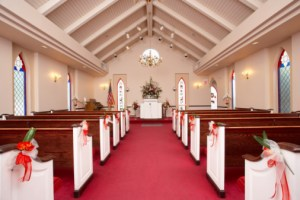 Interior of wedding chapel
