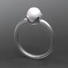 形見の指輪をお預かりしたので そのイメージは崩さない感じで 現代のデザインに。