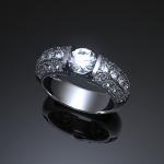 大きさのサンプルとして3Dプリンター ノーベル1.0Aで出力したレジンの指輪もご用意