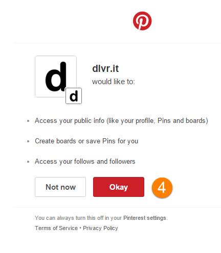 Vytvoření pinů s Pinterestem s dlvr.it - Krok 4
