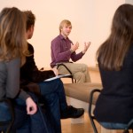 Logan Acton leading a teacher workshop