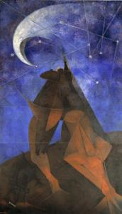 Rufino Tamayo, El Hombre (Man), 1953, Dallas Museum of Art, Dallas Art Association commission, Neiman-Marcus Company Exposition Funds