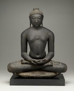 Jina, 12th century, black stone, Dallas Museum of Art, gift of the Junior Associates
