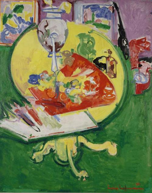 Hans Hofmann, Untitled (Yellow Table on Green), 1936, Dallas Museum of Art, fractional gift of The Rachofsky Collection in honor of Dr. Dorothy Kosinski, the Barbara Thomas Lemmon Curator of European Art