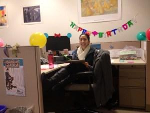 Pilar celebrates her birthday at the DMA!