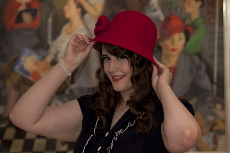 Lacey with her red hat