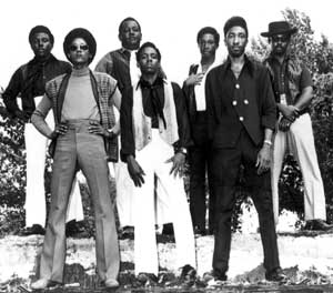 Wendell with Soul Seven, who performed at the South Dallas Pop Festival.