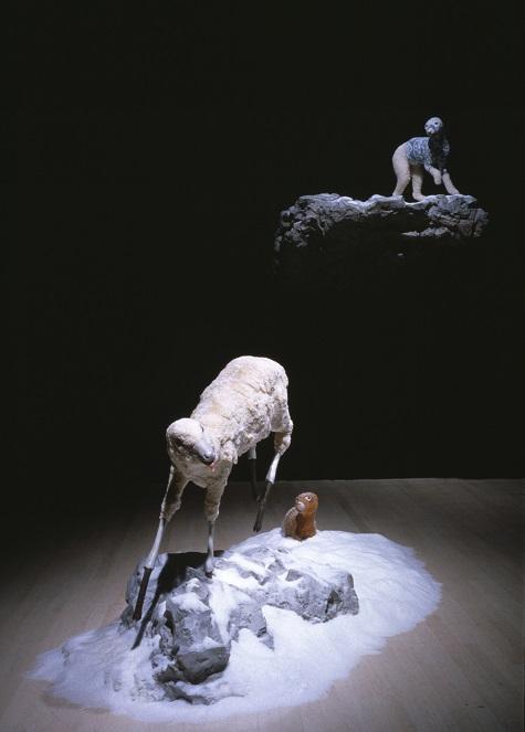 Erick Swenson, Untitled, 1998, styrofoam, resin, wool, foam, epoxy, clay, and paint, Dallas Museum of Art, gift of Mark Babcock