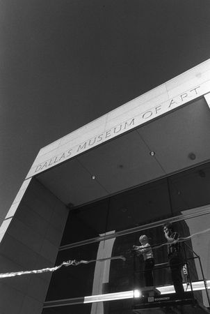 Ribbon cutting ceremony on January 29, 1984 marking the grand public opening of the Dallas Museum of Art's new downtown location.
