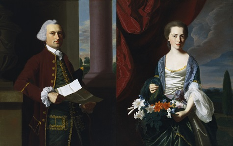 John Singleton Copley, Woodbury Langdon and Sarah Sherburne Langdon, 1767, oil on canvas, Dallas Museum of Art, The Eugene and Margaret McDermott Art Fund, Inc.
