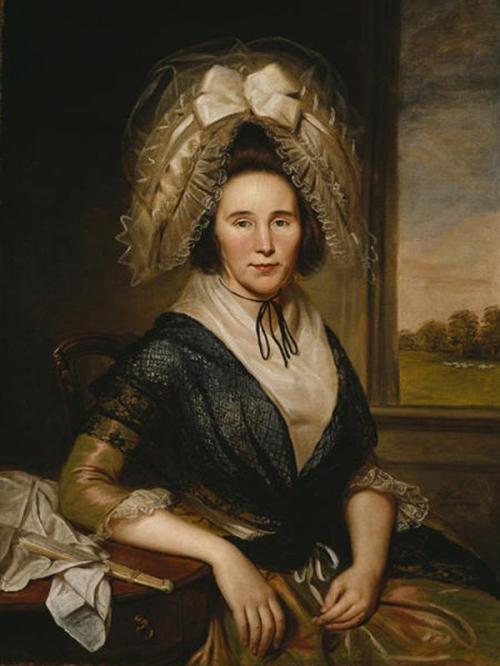 Charles Willson Peale, Rachel Leeds Kerr, 1790, oil on canvas, Dallas Museum of Art, gift of the Pauline Allen Gill Foundation