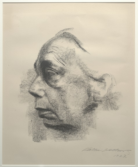 Käthe Kollwitz, Self Portrait, 1927. Lithograph, 12 5/8 x 11 ¾ in. (32.068 x 29.845 cm.), Gift of Mr. and Mrs. Alfred L. Bromberg, 1953.37
