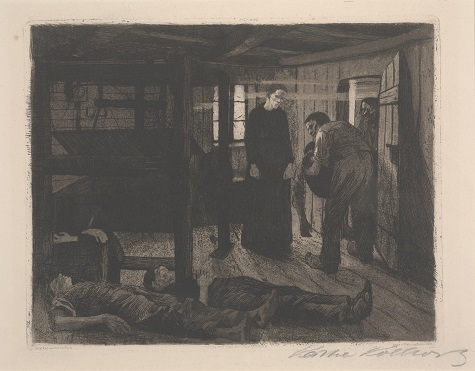 Käthe Kollwitz, End (Ende), 1897. aquatint and etching on paper, Gift of Mr. and Mrs. Alfred L. Bromberg