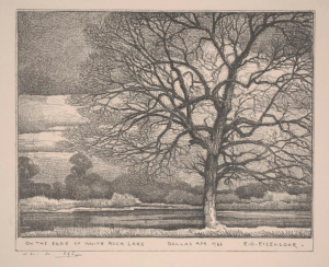 On the Edge of White Rock Lake, Edward G. Eisenlohr, 1933