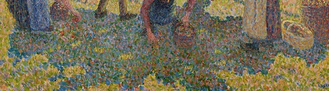 Camille Pissarro, Apple Harvest (Cuillette des pommes), 1888 (detail)