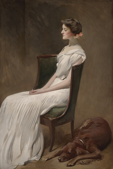 John White Alexander, Miss Dorothy Quincy Roosevelt (later Mrs. Langdon Geer), 1901-1902, oil on canvas, Dallas Museum of Art, gift of the Pauline Allen Gill Foundation in memory of Pauline Gill Sullivan
