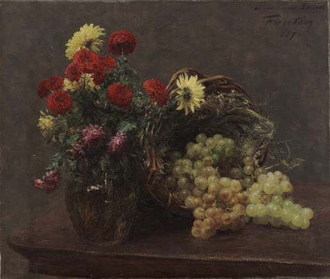 Henri Théodore Fantin-Latour, Flowers and Grapes, 1875, oil on canvas, Dallas Museum of Art, gift of the Meadows Foundation, Incorporated
