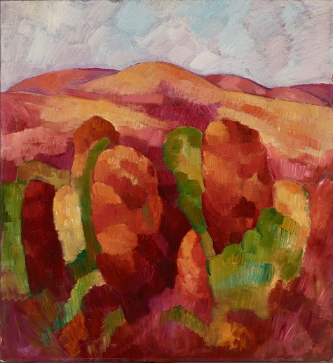 Marsden Hartley, Mountains, no. 19, 1930, oil on board, Dallas Museum of Art, The Eugene and Margaret McDermott Art Fund, Inc.