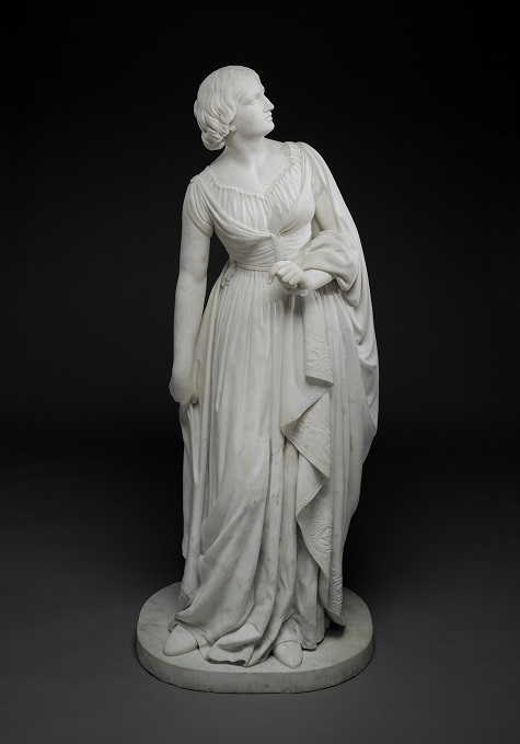Anne Whitney, Lady Godiva, c. 1861-1864, marble, Dallas Museum of Art, gift of Dr. Alessandra Comini in memory of Dr. Eleanor Tufts, who discovered the Massachusetts-backyard whereabouts of this long-forgotten statue and brought it to Dallas