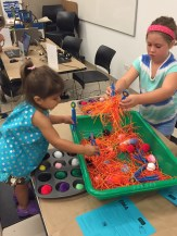 Sensory bins at First Tuesday