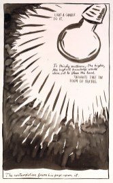 Raymond Pettibon, No Title (Light a Candle), 1987, pen and ink on paper, Dallas Museum of Art, Lay Family Acquisition Fund © 1987 Raymond Pettibon