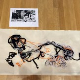"Felt and string version for the DMA's ""Cathedral"" activity."