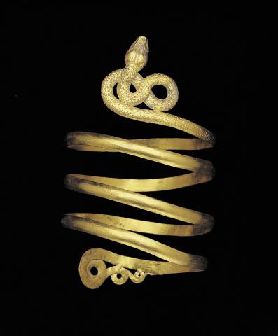 Single snake armlet, 1st century A.D.Dallas Museum of Art, Museum League Purchase Funds, The Eugene and Margaret McDermott Art Fund, Inc., and Cecil H. and Ida M. Green in honor of Virginia Lucas Nick, 1991.75.92.1