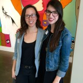 Liz and Taylor exploring the Ogden Museum of Southern Art.