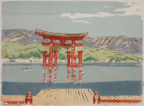 Florence E. McClung, Torii–Japan, 1959, silkscreen, Dallas Museum of Art, gift of Florence E. McClung