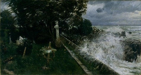 Adolf Hiremy-Hirschl, Seaside Cemetery (Seefriedhof), 1897, oil on canvas, Dallas Museum of Art, gift of J.E.R. Chilton 1991.28