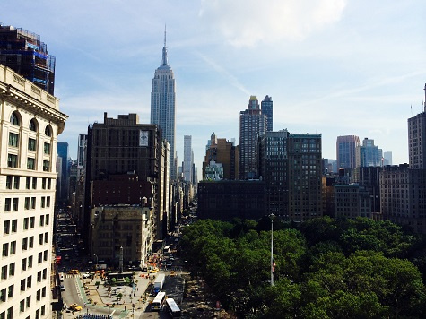 View from Macmillan Children's Publishing Group located in the famous Flatiron Bldg