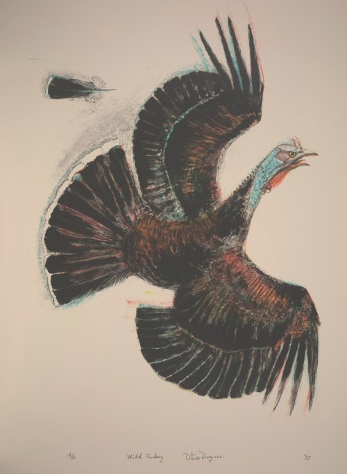 Otis Dozier, Wild Turkey, 1987, lithograph, Dallas Museum of Art, gift of The Dozier Foundation, ©Denni Davis Washburn, William Robert Miegel Jr, and Elizabeth Marie Miegel, 1990.63