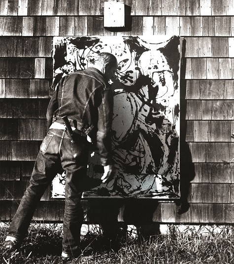 Jackson Pollock, n.d. Photograph by Hans Namuth, Courtesy Center for Creative Photography, University of Arizona © 1991 Hans Namuth Estate