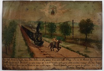 Retablo Dedicated by Rosendo Gonzalez, 1 Jan. 1907, oil on tin, Dallas Museum of Art, gift of Mr. and Mrs. Stanley Marcus Foundation 1961.86