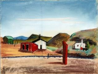 Velma Davis Dozier, Terlingua, n.d., pastel on sandpaper, Dallas Museum of Art, gift of Denni Davis Washburn and Marie Scott Miegel 1990.21 ©Denni Davis Washburn, William Robert Miegel Jr, and Elizabeth Marie Miegel
