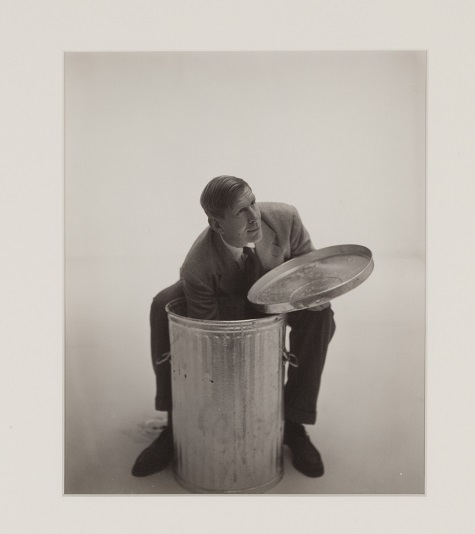 George Platt Lynes, W. H. Auden Reaching into Garbage Can, 1947, gelatin silver print, Dallas Museum of Art, gift of William B. Jordan and Robert Brownlee 2000.375