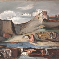 Everett Spruce, Canyon at Night, 1945, Dallas Museum of Art, Dallas Art Association Purchase
